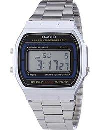 Casio Collection - Unisex-Armbanduhr mit Digital-Display und Edelstahlarmband - A164WA-1VES