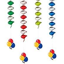 Susy Card 11409901 Rotorspiralen, 4-er Balloons, 50 cm, vershiedene farbe