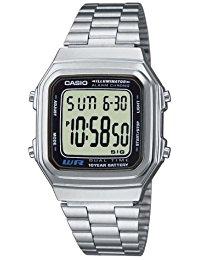 Casio Collection - Unisex-Armbanduhr mit Digital-Display und Edelstahlarmband - A178WEA-1AES