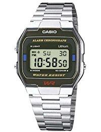 Casio Collection - Unisex-Armbanduhr mit Digital-Display und Edelstahlarmband - A163WA-1QES
