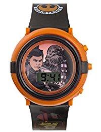 Star Wars Jungen-Armbanduhr mit Digitalem Zifferblatt und Blauem Kunststoffarmband swm3006