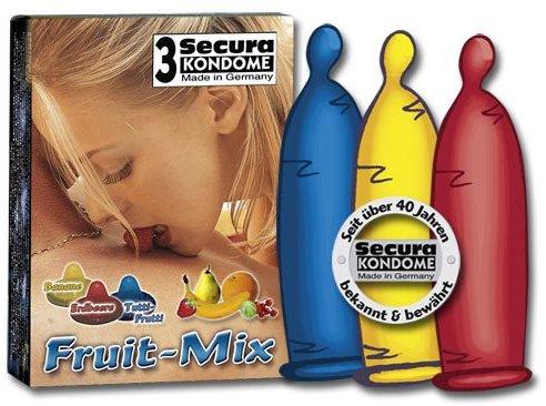 Orion 415669 Secura Kondome Fruit-Mix, 3er