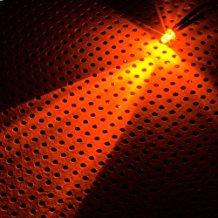 Lamptron 3 mm glanzend Ultra LED mit Kabel - Orange