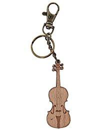 GEWA Unisex-Anhanger Schlusselanhanger, Motiv: Violine Holz - 978912