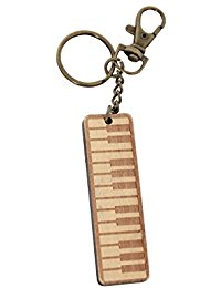 GEWA Unisex-Anhanger Schlusselanhanger, Motiv: Keyboard Holz - 978918