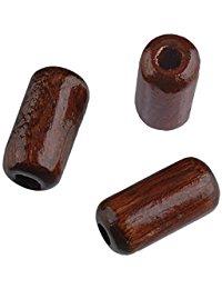EFCO 50tlg. 5 x 10 mm Holzperlen mit 23 mm Durchmesser Zylinder Loch, braun