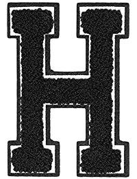 Urban Classics Aufnahbuchstaben UC Letter H, Schwarz, One size, UC008-00333-0050