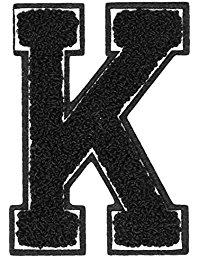 Urban Classics Aufnahbuchstaben UC Letter K, Schwarz, One size, UC008-00341-0050