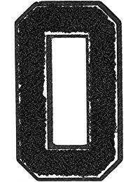 Urban Classics Aufnahbuchstaben UC Letter O, Schwarz, One size, UC008-00359-0050