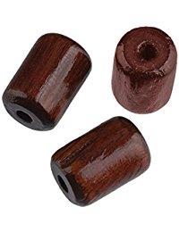 Efco Holzperlen, 7 mm x 10 mm, zylinderformig, mit Loch (2,3 mm Durchmesser), braun, 40 Stuck