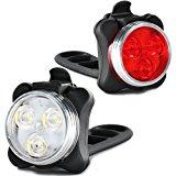 Fahrradlicht LED Set, LED Fahrradlichter Set,Wiederaufladbare Wasserdicht USB LED Fahrradbeleuchtung mit Aufladbar 650 mAh Akku,