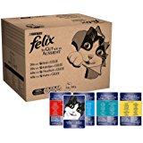 Felix So gut wie es aussieht in Gelee mit Rind, Huhn, Kabeljau und Thunfisch, Katzenfutter (120 x 100g Beutel): Amazon.de: Haust