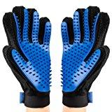 OMORC 2PCS Pet B&uuml,rste Handschuh, Haustier Grooming B&uuml,rsten Deshedding Glove Massage-Handschuh Pflegenb&uuml,rste Tierh