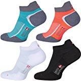 Low-Cut Sportsocken im 5er oder 3er Pack von DANISH ENDURANCE, f&uuml,r Damen & Herren, kurze Sneakersocken, Laufsocken, atmungs