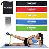 Fitnessb&auml,nder - Widerstandsb&auml,nder, 5er Set mit e-Anleitung und Tragebeutel &ndash, 5x Fitnessband, Widerstandsband, Gy