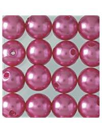 efco Wachs Perlen, Kunststoff, Old Rose, 8&nbsp,mm Durchmesser, 32-teilig,