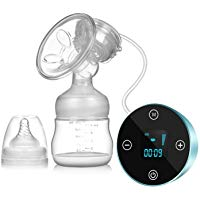 Elektrische Milchpumpe, SUMGOTT Wiederaufladbar tragbar Elektrische Brustpumpe mit LCD Smart Touchscreen (brustpump)