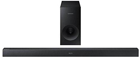 Samsung HW-K360-EN 2.1 Soundbar (130 W, kabelloser Subwoofer, Bluetooth) schwarz