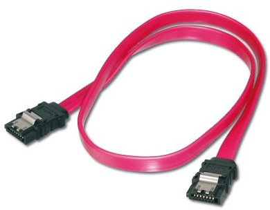 ASSMANN SATA Anschlusskabel L-Typ m- Verriegelung Bu-Bu 0,5m gerade St-St 0,5m gerade