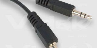 Videk Stromkabel (3,5 mm Stecker auf Stecker, 3,5 mm, Stereo, Kabel, 1,2 m