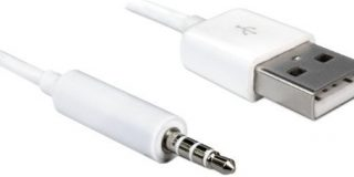 DELOCK Mobile Kabel USB-A St  maggiore di  3,5 mm Klinke 4 Pin IPodShuffle 1m