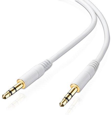 adaptare AD-10024 Stereo (AUX) Verbindungskabel Klinkenstecker (3,5mm) auf Klinkenstecker (3,5mm), vergoldet, ultra slim, 1,00 m