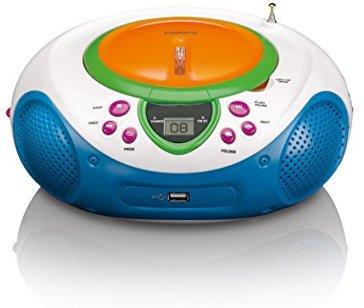 Lenco Kids mit UKW-Radio, LCD-Display, Wiederholungsfunktion, Aux-Eingang