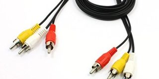 Sourcingmap 1,1 M AV Composite Kabel dreifach Cinchstecker - Schwarz
