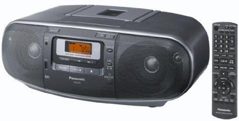 Panasonic RX-D55AEG-K Stereo-Radiorecorder (Tuner, CD-Player, MP3 Wiedergabe, Kassettendeck) schwarz