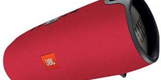 JBL Xtreme Spritzwasserfester Tragbarer Bluetooth Lautsprecher mit 10,000 mAh Akku, Dualem USB-Ladeanschluss und Freisprechfunkt