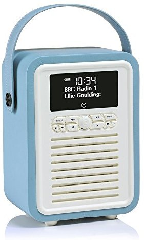 VQ (Vormals View Quest) VQ-MINI-BL Retro Mini DAB+ Radio mit Bluetooth-Funktion blau