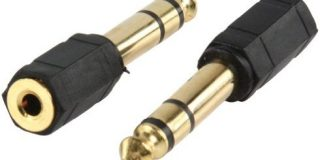Adapter Male Stereo 6,35 mm Klinke weiblich 3,5 mm Stereo gold