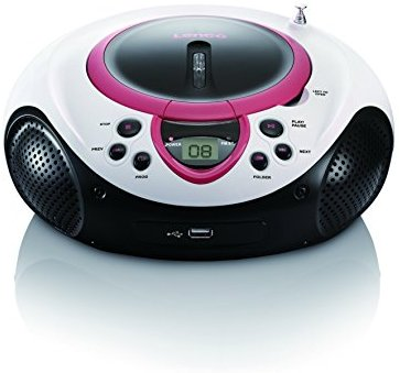 Lenco SCD-38 Tragbares UKW-Radio mit CD-MP3-Player (USB 2.0) pink