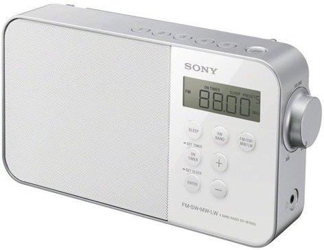Sony ICF-M780 Tragbares, digitales Uhrenradio(UKW-KW-MW-LW-Tuner, LED-Beleuchtung, Alarmfunktion, Netzteil- oder Batteriebetrieb