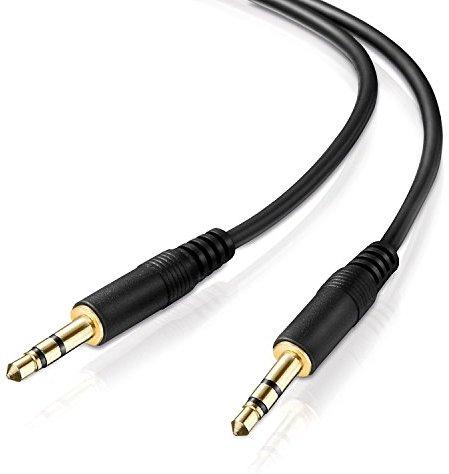 adaptare AD-10020 Stereo (AUX) Verbindungskabel Klinkenstecker (3,5mm) auf Klinkenstecker (3,5mm), vergoldet, ultra slim, 2,00 m