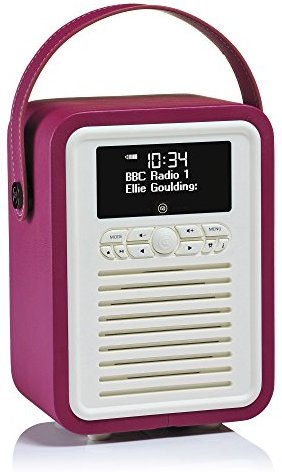 VQ (Vormals View Quest) Retro Mini DAB+ Radio mit Bluetooth-Lautsprecher - Dunkles Violett