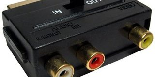 CDL Micro Vergoldete Scart-in und out zu 3 x RCA-Phono Video-Audio Adapter--konverter box