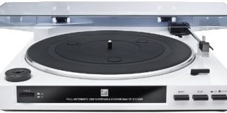Dual DT 210 USB Schallplattenspieler mit Digitalisierungsfunktion (USB, Auto-Stop-Start-Funktion, Riemenantrieb, Magnet-Tonarmab