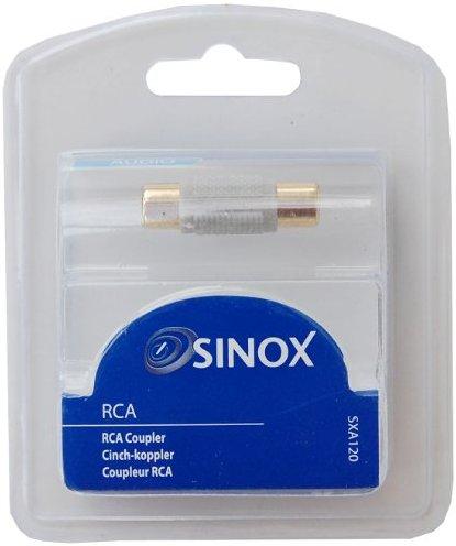 Sinox SXA120 Cinch-Kupplung (Buchse auf Buchse) silberfarben