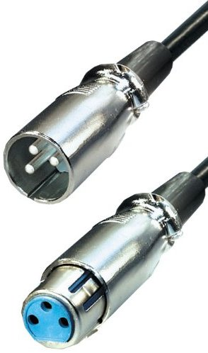 Transmedia A126-5L Cannon Verbindungskabel (Stecker auf Kupplung, 6,5mm Klinkenstecker, 5m)