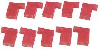 Full isoliert weiblich Flagge Crimp Terminal Rot 10 PCS