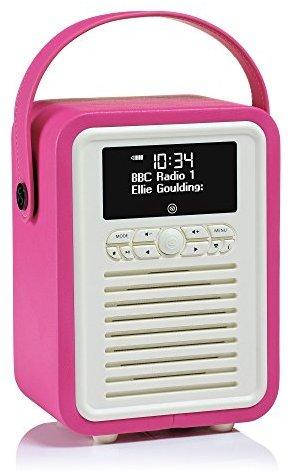VQ (Vormals View Quest) VQ-MINI-PK Retro Mini DAB+ Radio mit Bluetooth-Lautsprecher rosa