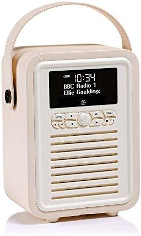 VQ (Vormals View Quest) Retro Mini DAB+ Radio mit Bluetooth-Lautsprecher - Creme