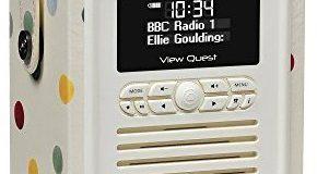 VQ (Vormals View Quest) VQ-MINI-EBPD Emma Bridgewater Retro Mini DAB+ Radio mit Bluetooth-Lautsprecher polka dot