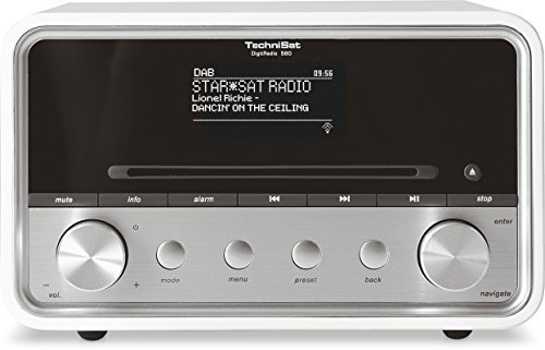 TechniSat DigitRadio 580 - Stereo Digitalradio mit CD-Player (DAB+, UKW, Internetradio, Multiroom-Streaming, Bluetooth, Steuerun