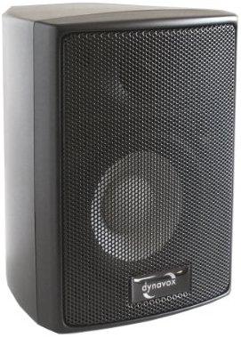 Dynavox AS-301 High Class Satelliten Lautsprecher (60 Watt) schwarz (Paar)
