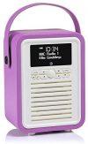 VQ (Vormals View Quest) Retro Mini DAB+ Radio mit Bluetooth-Lautsprecher - Leuchtende Orchidee