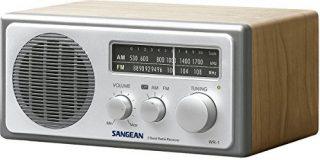 Sangean WR-1 Desktop-Radio (UKW-MW-Tuner, AUX-In) walnuss-Silber