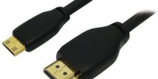 Omenex 491528 Highspeed-Kabel HDMI - Mini HDMI 1.3, Stecker auf Stecker, 1,80 m, Schwarz
