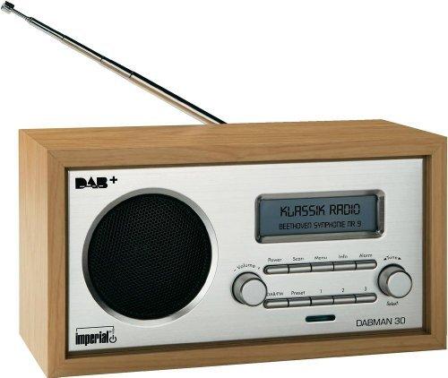 Imperial 22-130-00 Dabman 30 Digitalradio (DAB+-DAB-UKW, Aux In, inkl. Netzteil) braun